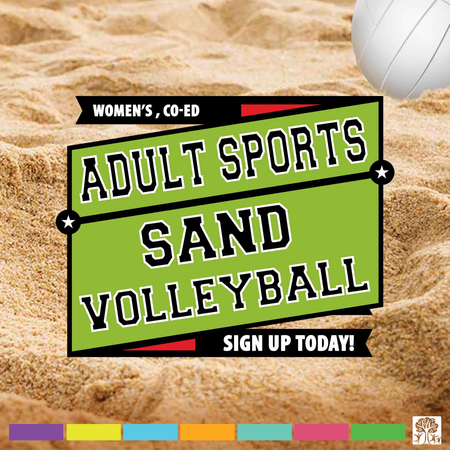 Indoor and sand volleyball leagues available.
