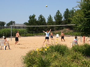 Adult sand volleyball leagues play at Hunt Club Park Aquatic Center too!