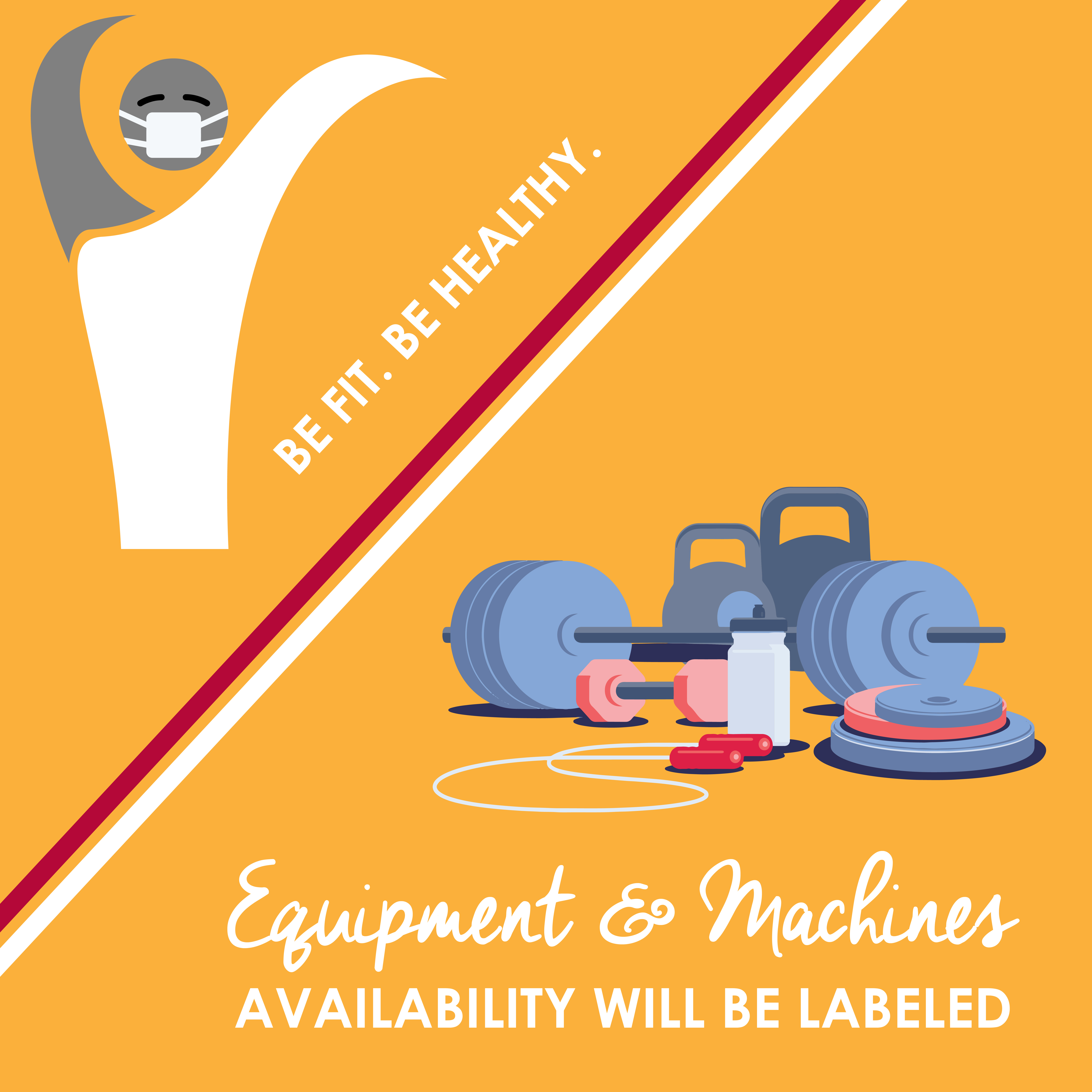 Please remember to wipe all fitness equipment before and after use