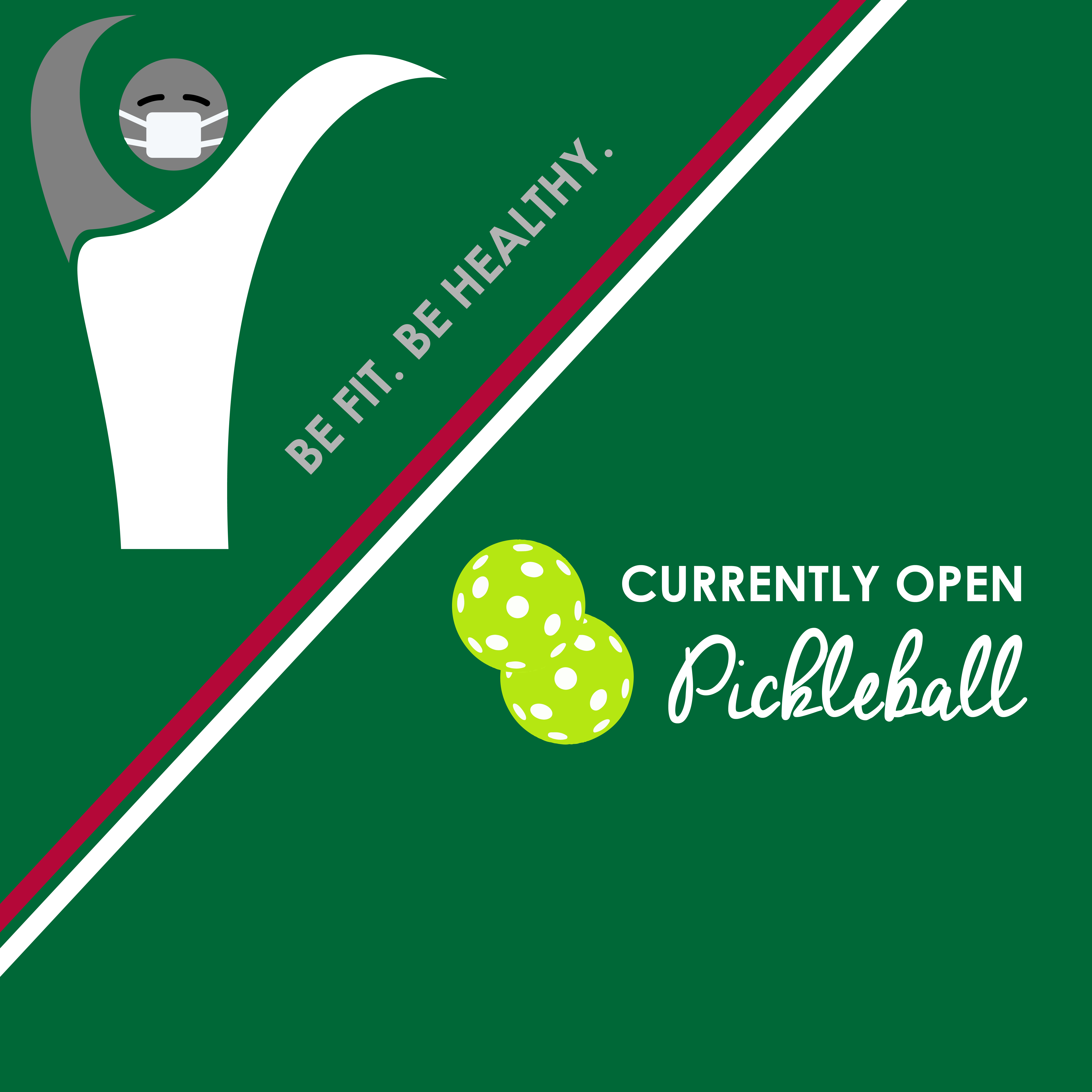 Pickleball is available with court reservation