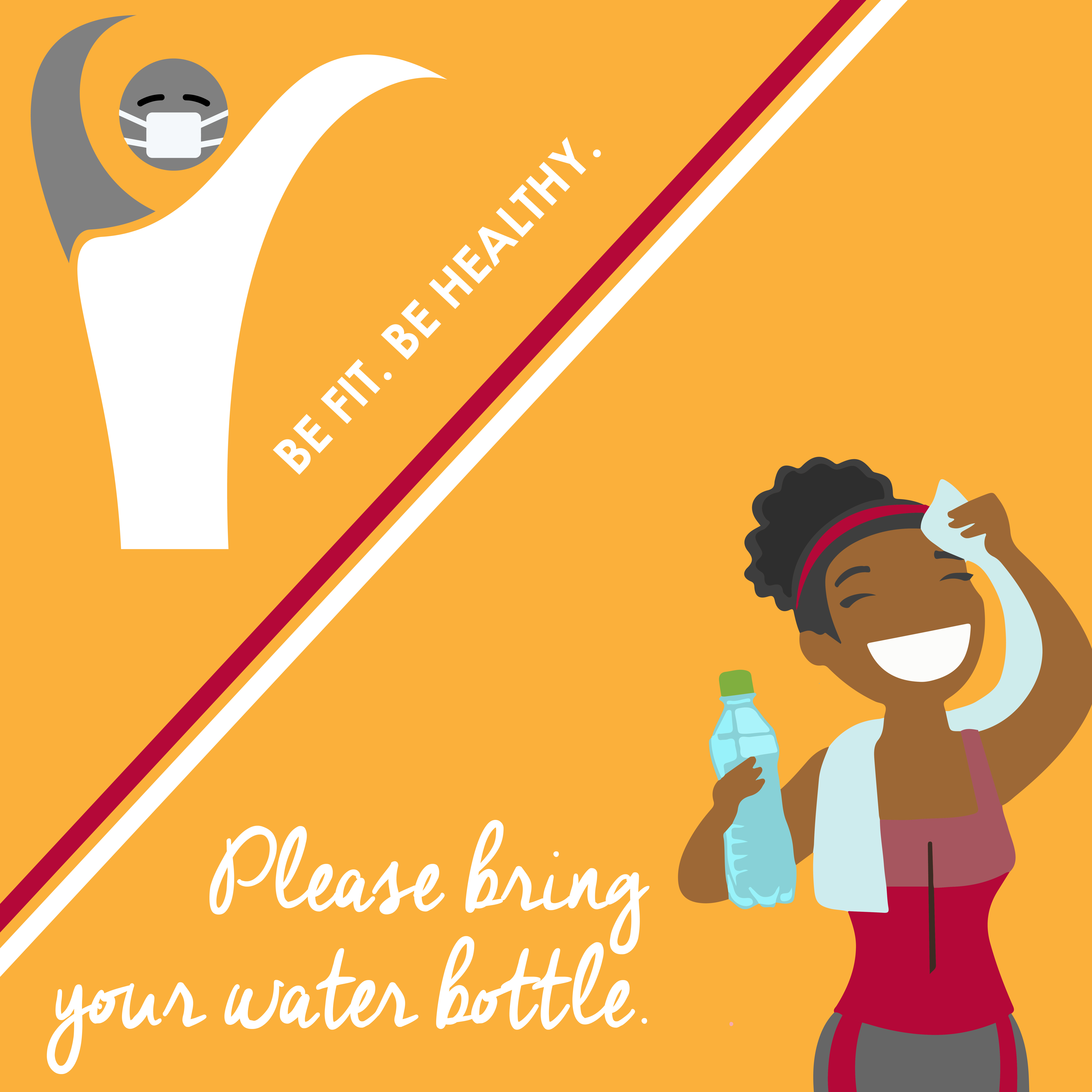 Bring your own water bottle to refill at touchless stations