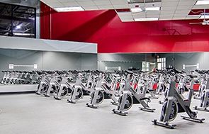 Cycle studio at FitNation Gurnee on Nations Drive
